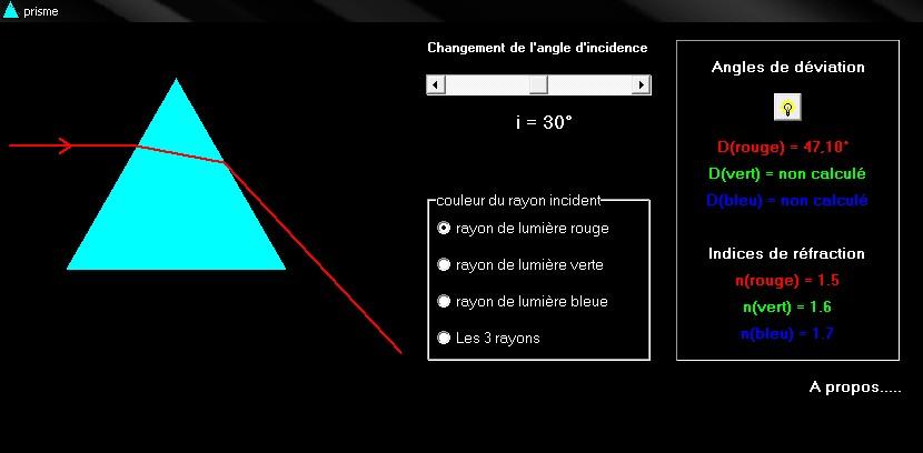 logiciel de dispersion de la lumière par un prisme