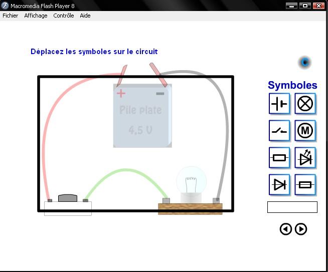 logiciel de simulation de montages électrique en série