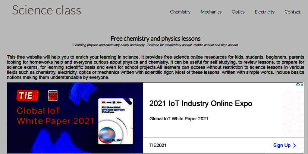 to download lessons of physics and chemestry