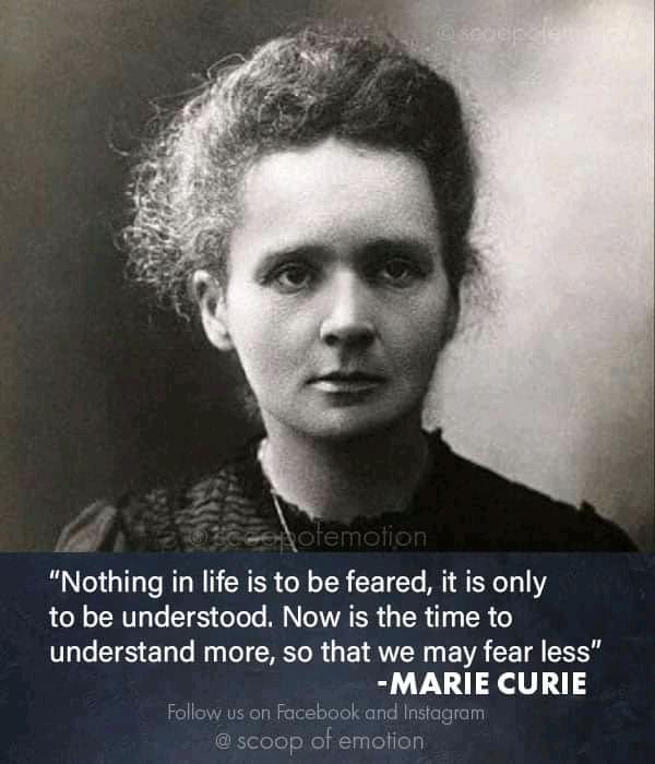 Marie Curie , prix noble et inventrice de l'èlement chimique polonium